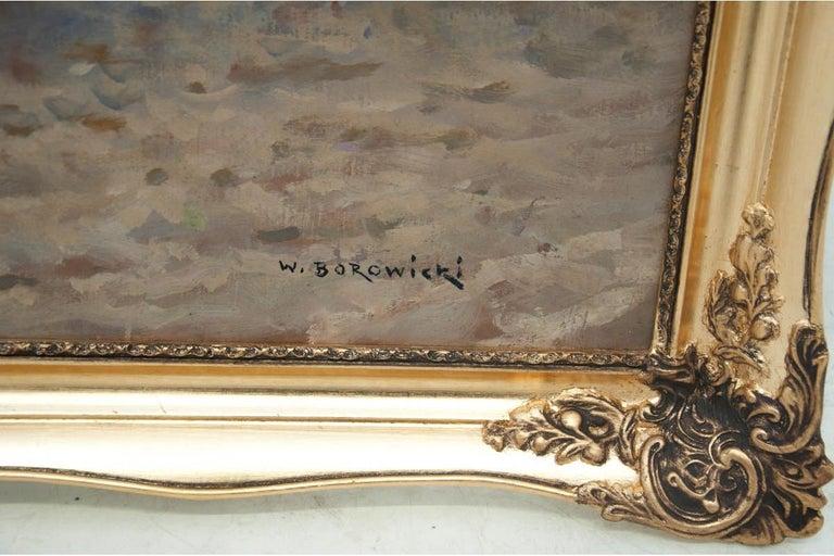 Painting by Władysław Borowicki In Good Condition For Sale In Chorzów, PL
