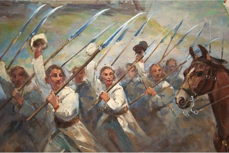 Canvas Painting by Władysław Borowicki For Sale