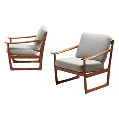 Pair of Lounge Chairs by Peter Hvidt & Orla Mølgaard-Nielsen