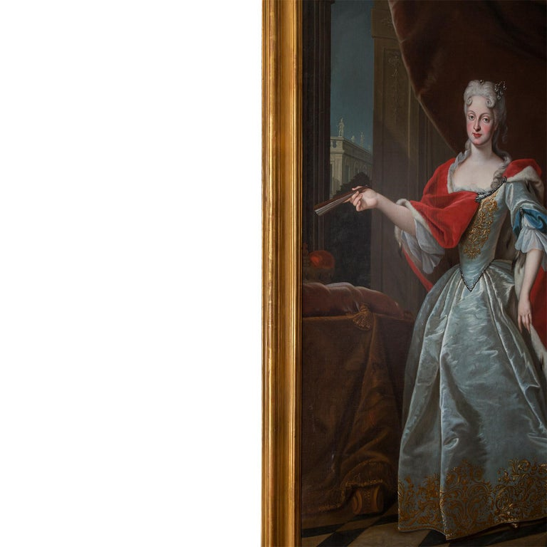 18th Century and Earlier Pair of 18th Century École Française Portraits of the House of Habsbourg For Sale