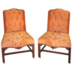 Pair of 18th Century English Chippendale Mahogany Side Chairs