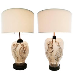 Pair of 1950 Zahara Schatz Sculptural Table Lamps