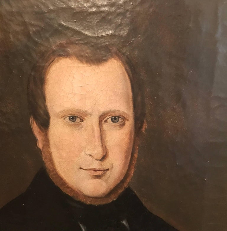 Pair of 19th Century American Portraits In Excellent Condition For Sale In Lambertville, NJ