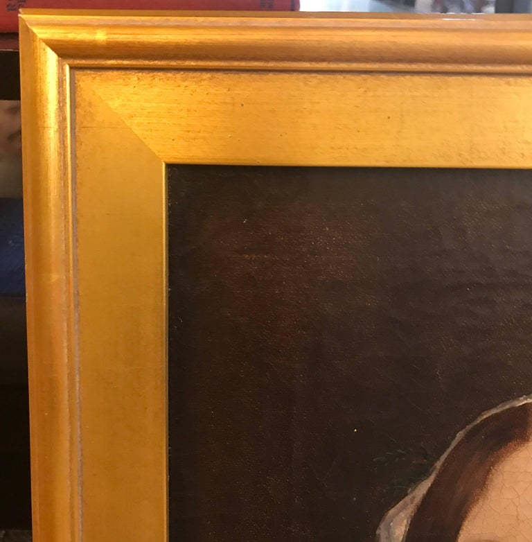 Canvas Pair of 19th Century American Portraits For Sale