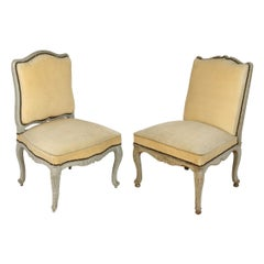 Pair of 19th Century French Painted Side Chairs