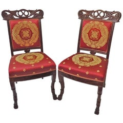 Pair of 19th Century Italian Empire Side Chairs
