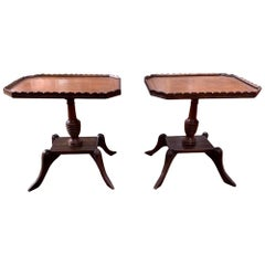Pair of 19th Century Mahogany Inlaid Side Tables