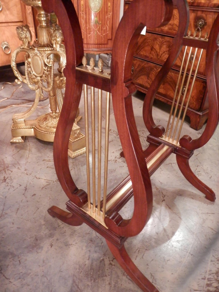 Pair of 19th Century Parquetry Mahogany and Gilt Bronze Kidney Shaped Tables 1