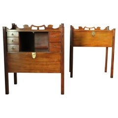 Pair of 19th Century Pot-Cupboards /Bedside Tables
