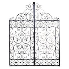 Pair of 19th Century Wrought Iron Garden Gates