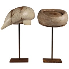 Pair of 20th Century Milliner Italian Hat Stands from Florence, Italy
