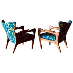 Pair of Adrian Pearsall Armchairs with Sculptural Frames