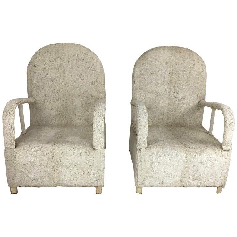 Pair of African Yoruba Beaded Armchairs