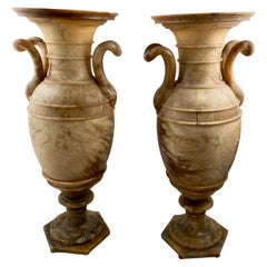 Pair of Alabaster Vases, Early 19th Century