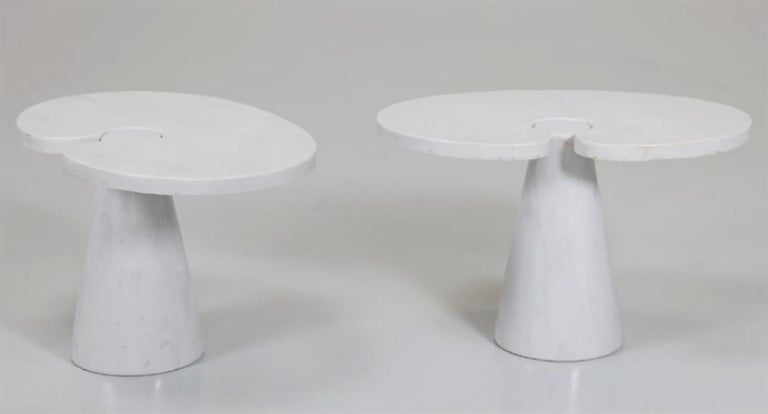 Pair of Angelo Mangiarotti Carrara Side Tables for Skipper Sold Individually For Sale 4