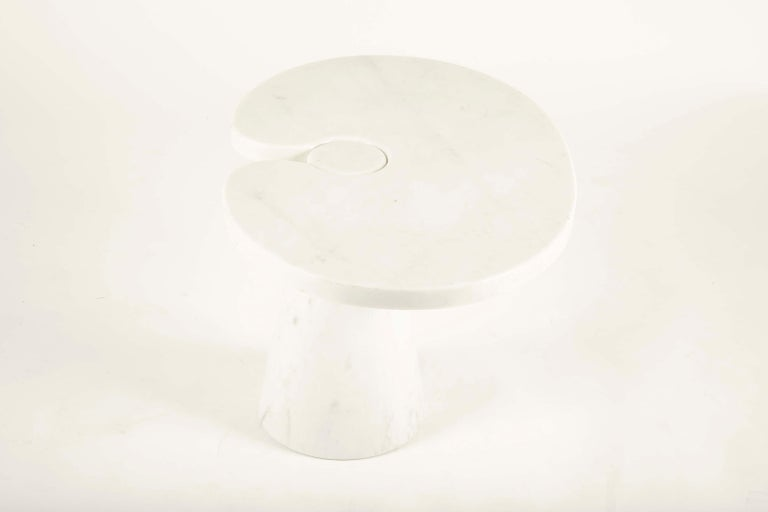 Pair of Angelo Mangiarotti Carrara Side Tables for Skipper Sold Individually For Sale 1