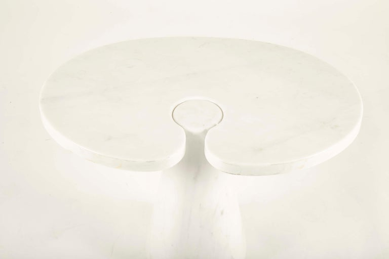 Mid-Century Modern Pair of Angelo Mangiarotti Carrara Side Tables for Skipper Sold Individually For Sale