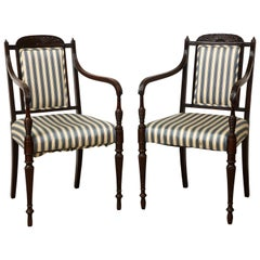 Pair of Anglo-Indian Armchairs