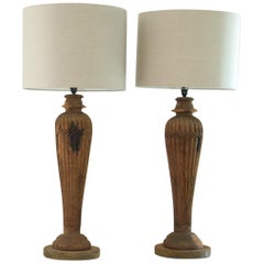 Pair of Anglo-Indian Column Lamps by KB Studio