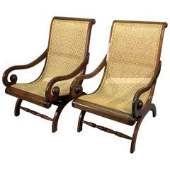 Pair of Anglo-Indian Teak Plantation Chairs