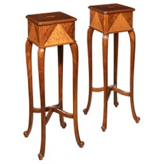 Pair of Anglo-Indian Teak Stands
