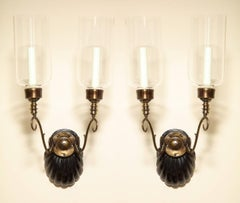 A Pair of Anglo-Indian Two-Light Sconces