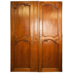 Pair of Antique French Armoire Doors