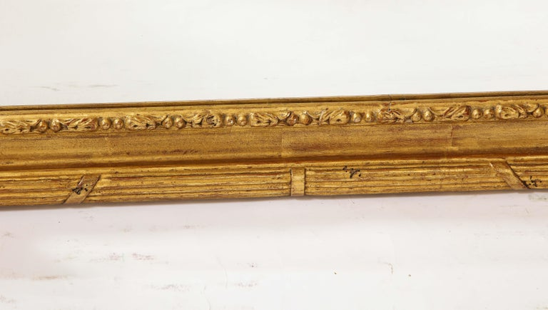 Pair of Antique French Louis XVI Style Hand Carved Giltwood Mirrors For Sale 14