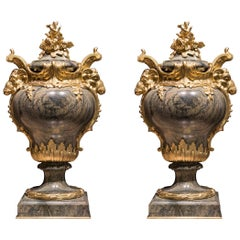Pair of Antique Marble Vases in the Louis XVI Manner by François Linke