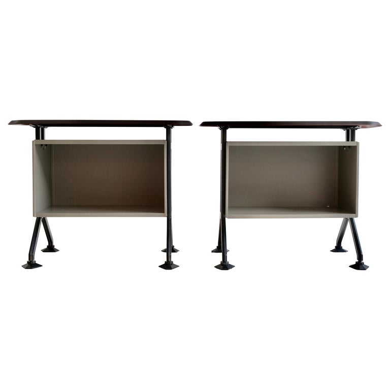 Pair of Arco System Sideboards by BBPR Studio for Olivetti, Italy, 1954 For Sale