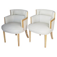 Pair of Art Deco Bankers Chairs English, Circa 1935