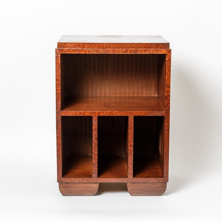 Wood Pair of Art Deco Bedside Tables, circa 1930 For Sale