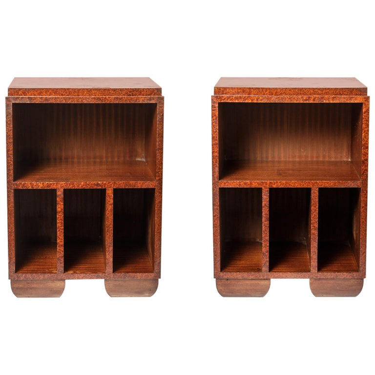 Pair of Art Deco Bedside Tables, circa 1930 For Sale