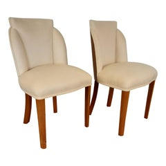 Pair of Art Deco Cloud Back Chairs in Walnut by Epstein, circa 1930