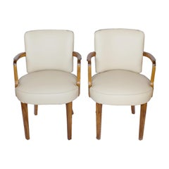 Pair of Art Deco Desk Chairs by Heal's of London, circa 1930