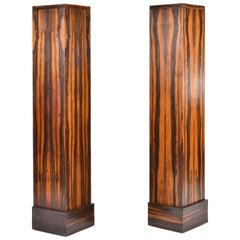Pair of Art Deco Macassar Pedestals