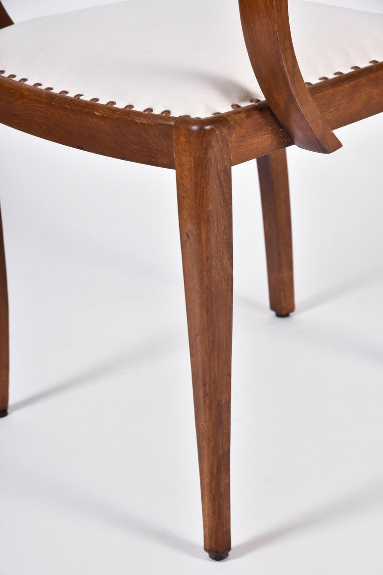 Pair of Art Deco Oak Chairs For Sale 6