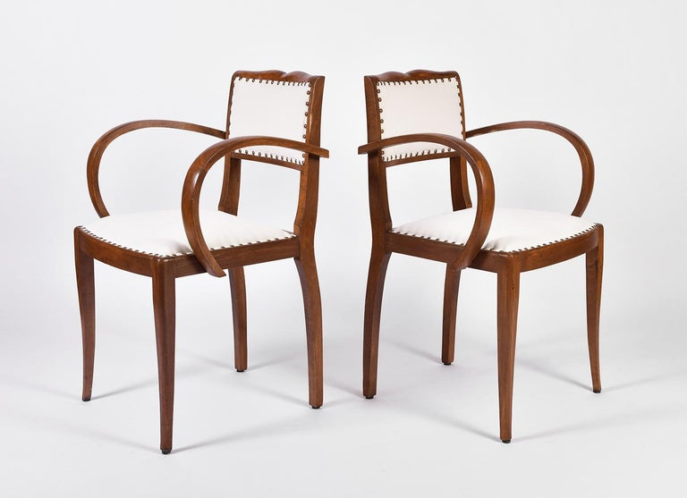 Pair of Art Deco Oak Chairs In Good Condition For Sale In London, GB