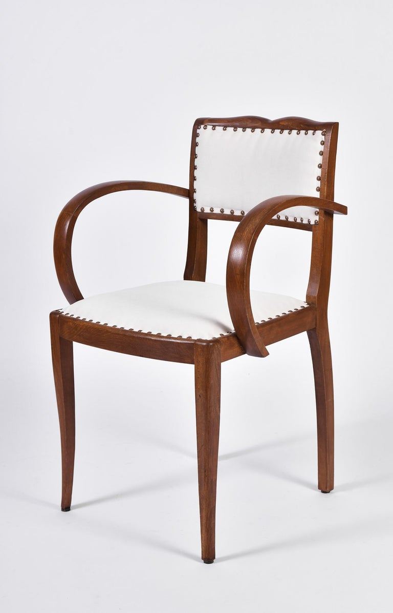 20th Century Pair of Art Deco Oak Chairs For Sale