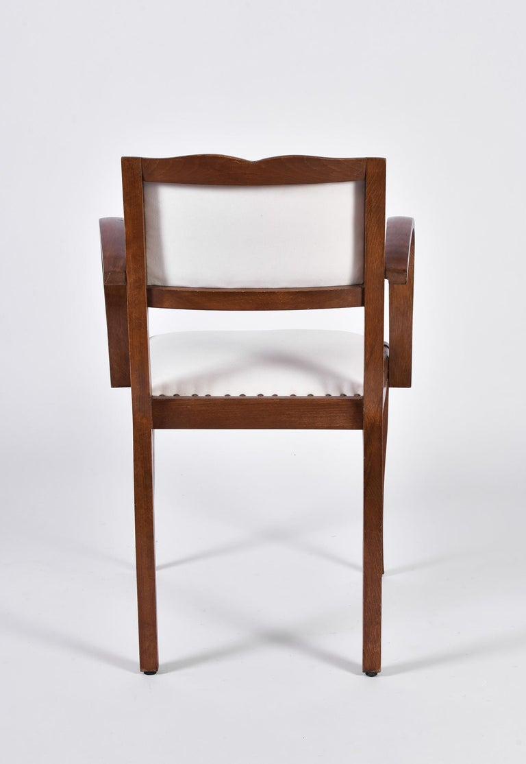 Pair of Art Deco Oak Chairs For Sale 1