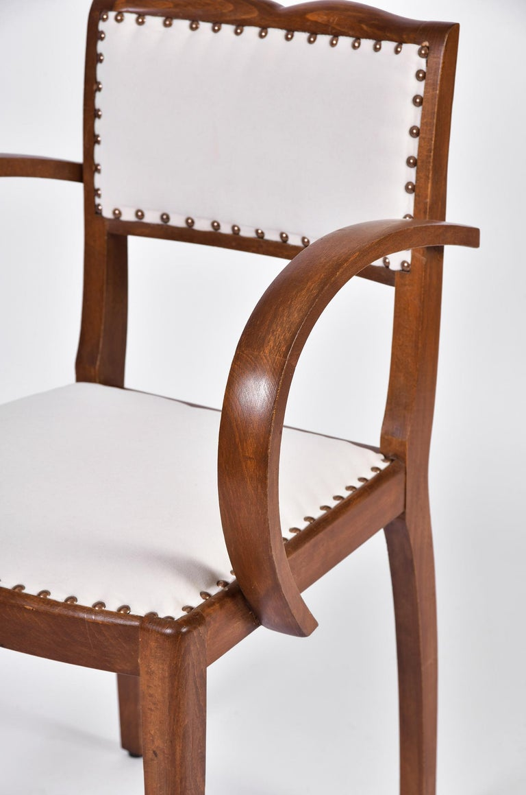 Pair of Art Deco Oak Chairs For Sale 2