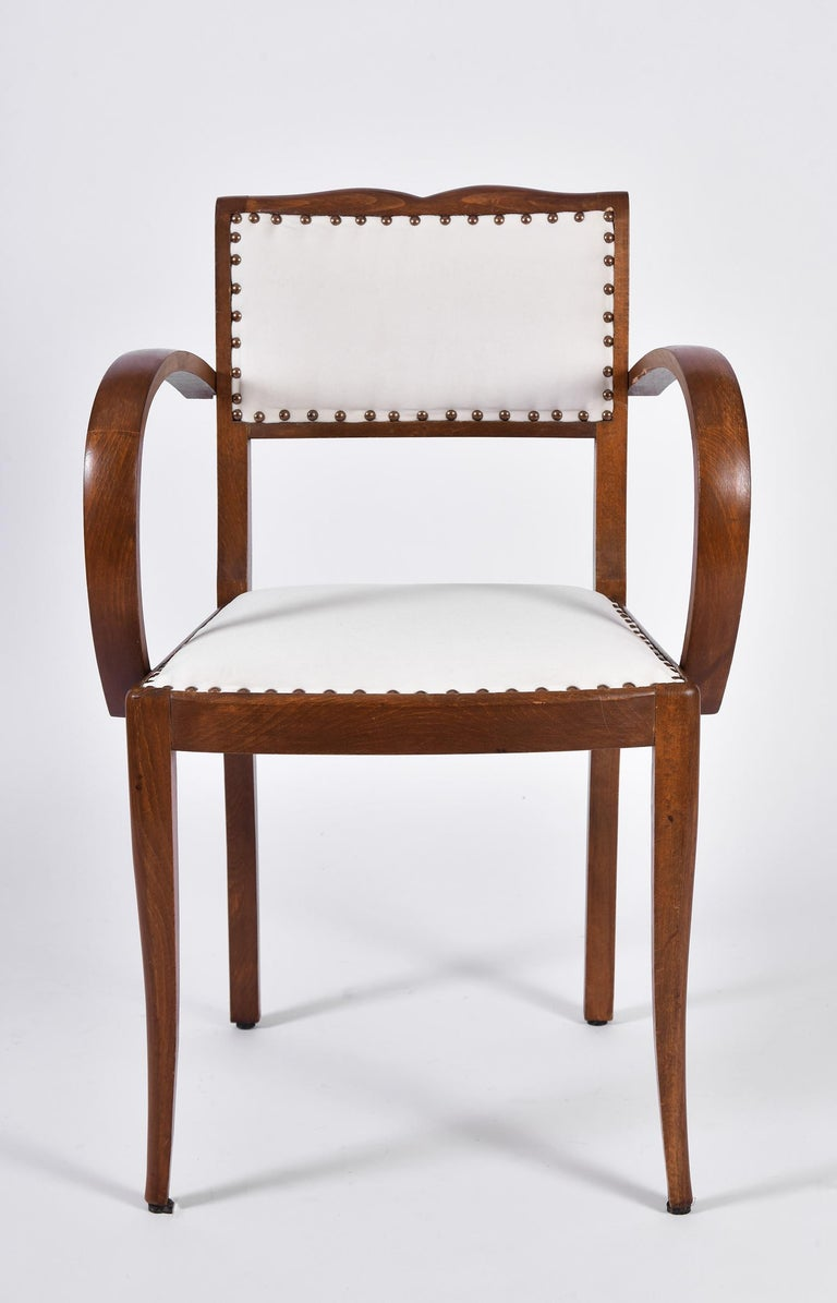 Pair of Art Deco Oak Chairs For Sale 3