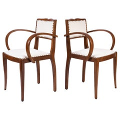 Pair of Art Deco Oak Chairs