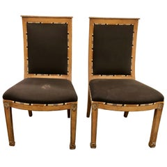 Pair of Art Deco Side Chairs or Office Desk Chairs