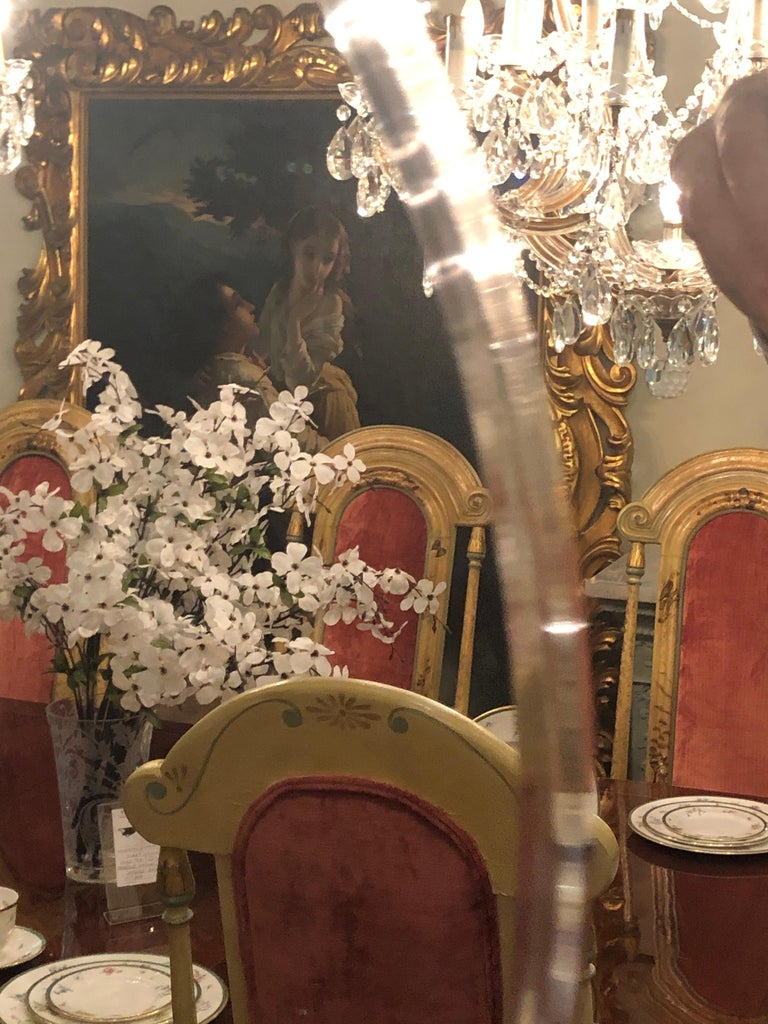 Pair of Art Deco Style Faux Macassar Square Console or Wall Mirrors In Good Condition In Stamford, CT