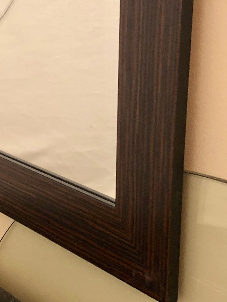 Pair of Art Deco Style Faux Macassar Square Console or Wall Mirrors 2