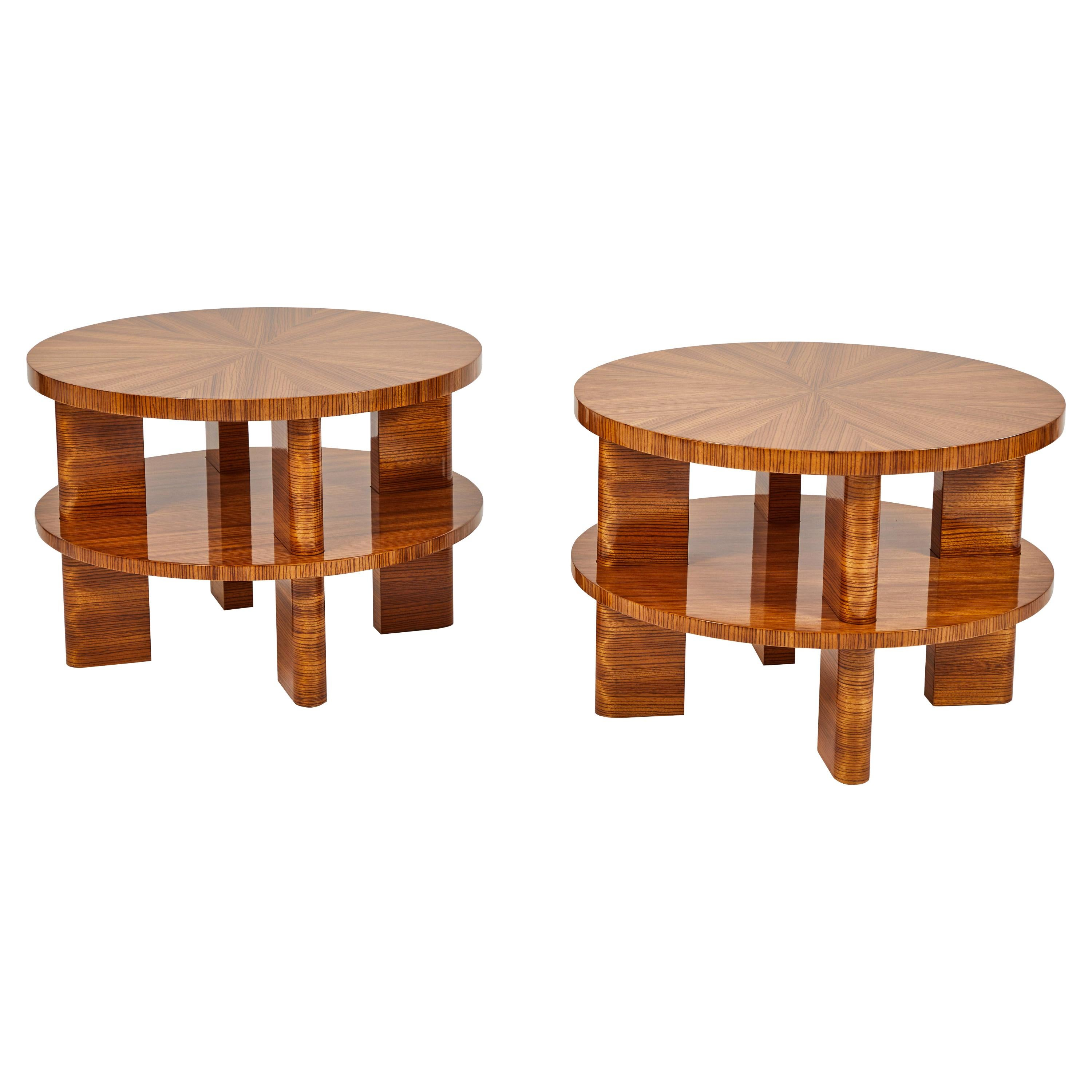 Pair of Art Deco Style Tables
