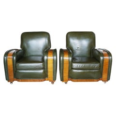 Pair of Art Deco Tank Chairs Attributed to Heal's of London