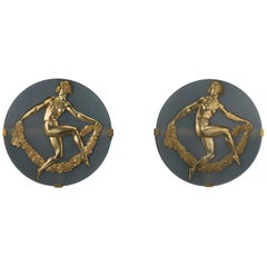 Pair of Art Deco Wall Appliques by Albert Constant Jouanneault, circa 1930