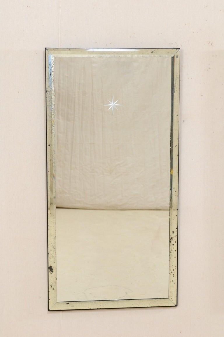 American A Pair of Artisan Hand-Crafted Silver Églomisé Starburst Mirrors, 4 Ft Tall